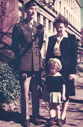 My parents and me just after the war